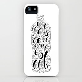 Hydrate Yourself Lettering iPhone Case