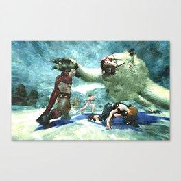 Karok stop red tyrant Canvas Print
