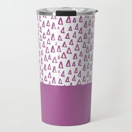 Triangles Purple Travel Mug