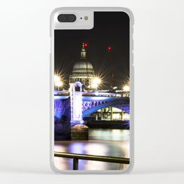 St pauls at night. Clear iPhone Case