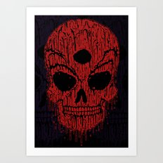 The Bloody Bloodskull of Blood Art Print