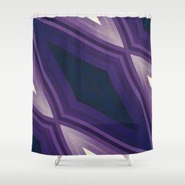 stripes wave pattern 6v3 fn Shower Curtain