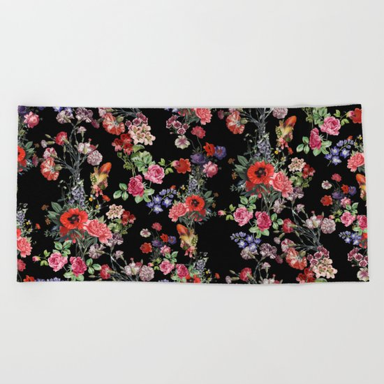 Botanic Pattern Beach Towel