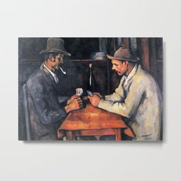 Paul Cézanne - The Card Players Metal Print