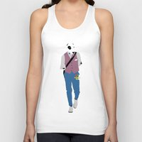 terrier Tank Tops featuring Terrier by Nathalie Otter