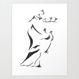 Bagpiper Sketch Art Print