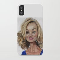 jessica lange iPhone & iPod Cases featuring Jessica Lange by Jared Hobson