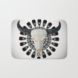 Bull Skull Mandala Bath Mat