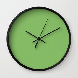 Dollar Bill - solid color Wall Clock