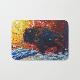 Wild the Storm Bison Painting by OLena Art Badematte
