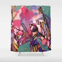 jazz Shower Curtains featuring Jazz by Wind Thoughts