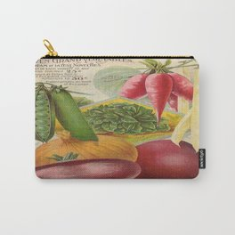 Vintage poster - Seven Grand Vegetables Carry-All Pouch