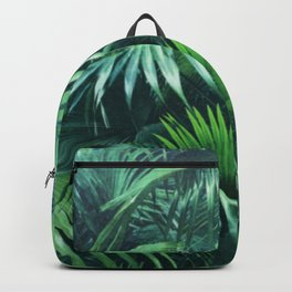Tropical Botanic Jungle Garden Palm Leaf Green Backpack