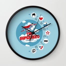 Superhero Kit Wall Clock