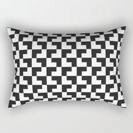 Black and White Tessellation Rectangular Pillow