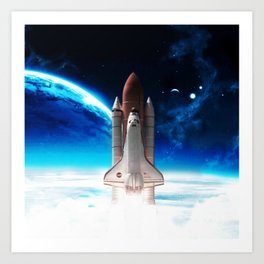 NASA Rocket Art Print