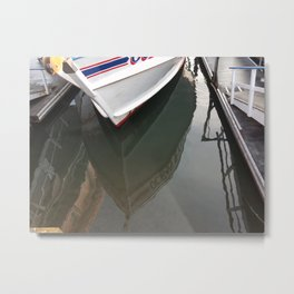 Boat reflection Metal Print
