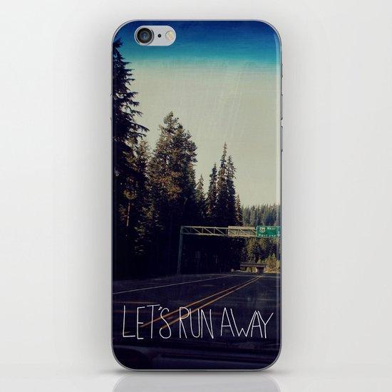 Let's Run Away IV iPhone & iPod Skin