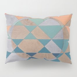 Circles and Triangles Pillow Sham