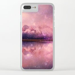 Reflections of Time - mountains and lakes Clear iPhone Case