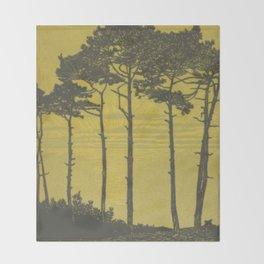 Art Nouveau Pines Throw Blanket