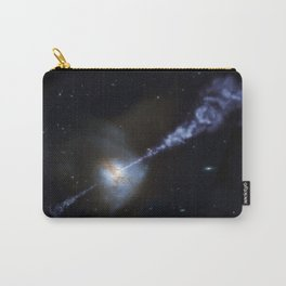 Active Black Hole Squashes Star Formation Carry-All Pouch