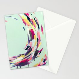 Life Aquatic - Abstract painting by Jen Sievers Stationery Cards