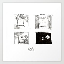 lil guy & the day Art Print