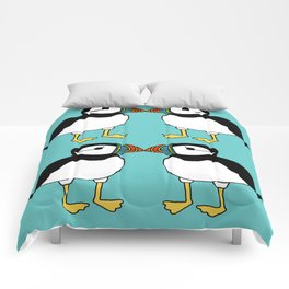 Kissing Puffins Comforters