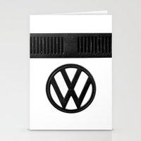 volkswagen Stationery Cards featuring Volkswagen Bus by Derek Delacroix