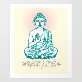Buddha Namaste Art Print