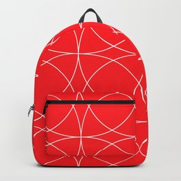 Lipstick Red Concentric Circles Rogue Sophisticate Pattern Backpack