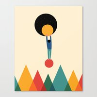 cycle Canvas Prints featuring Cycle by Andy Westface