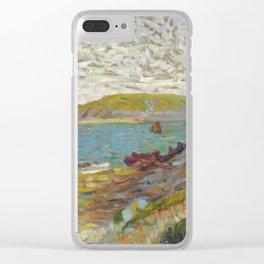 "Paul Signac ""Saint-Briac, L'Ile Agot"" Clear iPhone Case"