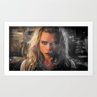 bad wolf Art Prints featuring Bad Wolf by Taylor Bookout
