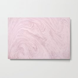 Cotton Candy Marble Metal Print