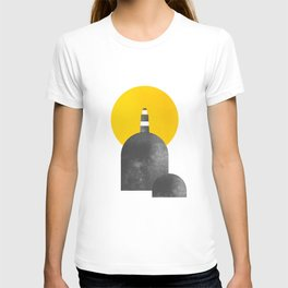 Lighthouse on Rock with Sun Behind T-shirt