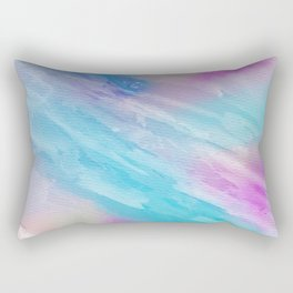 Hand painted abstract pink teal watercolor pattern Rectangular Pillow