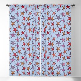Starfishes in clear water Blackout Curtain