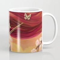 violin Mugs featuring Violin by Negin Armon