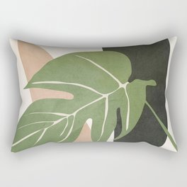 Abstract Monstera Leaf Rectangular Pillow