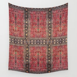 Antique Persian Red Rug Wall Tapestry