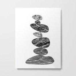 Stone Cairn Metal Print