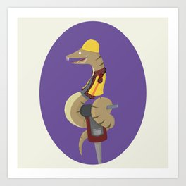 Constriction Worker! Art Print