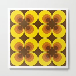 70s Yellow circles Metal Print