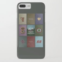 Twin Peaks colors iPhone Case