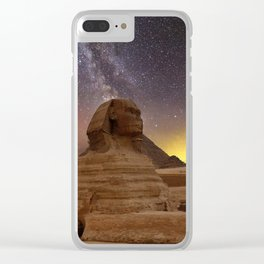 Milky way over Giza, Egypt Clear iPhone Case