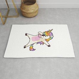 Dabbing Unicorn Rug