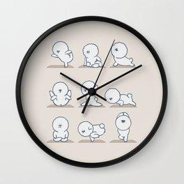 Bichon Frise Yoga Wall Clock