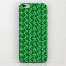 Pretty Green Zebra Pattern iPhone Skin